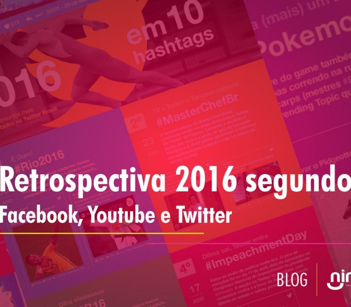Retrospectiva 2016 segundo Facebook, Youtube e Twitter