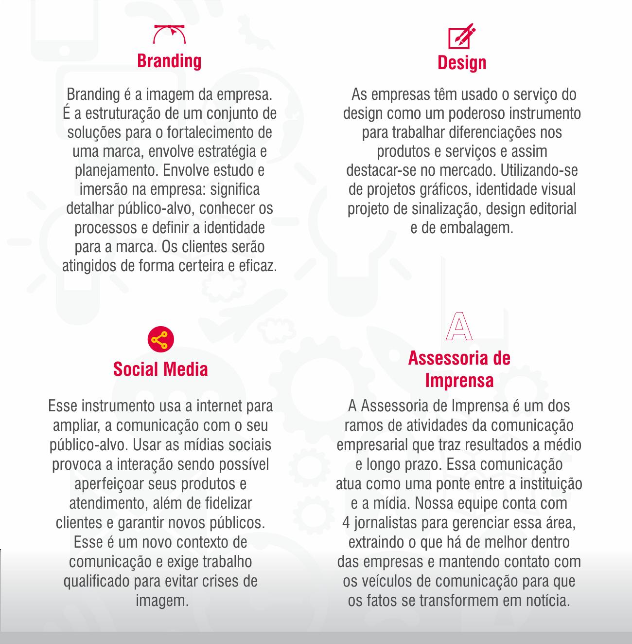 Serviços da Nine Comunicação e Design